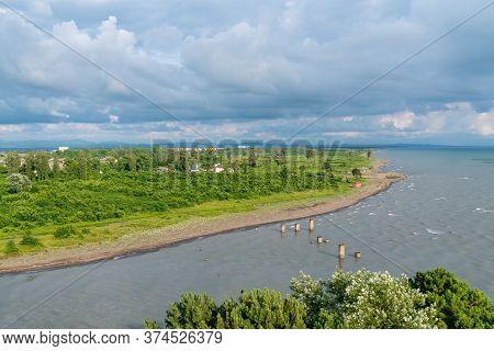 The Rioni River Flows Into The Black Sea, Poti, Georgia