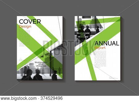 Green Color Cover Abstract Modern  Cover Book Brochure Template, Design, Annual Report, Magazine And