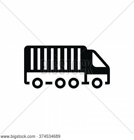 Black Solid Icon For Freight-transport Freight Transport Container Lorry Storage Cargo Terminal