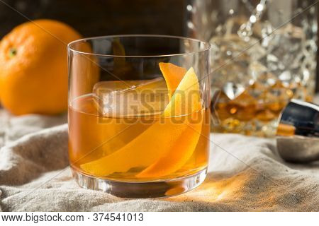 Boozy Bourbon Old Fashioned Cocktail