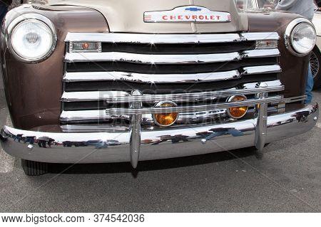 Bordeaux , Aquitaine / France - 06 20 2020 : Chevrolet Advance Design 3100 Old Vintage Pickup Truck