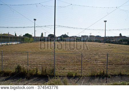 Pitch Of The Demolished Stade De La Palla Football Stadium In Valence, France.