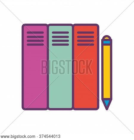 Files And Pencil Line And Fill Style Icon Design, Document Data Archive Storage Organize Business Of