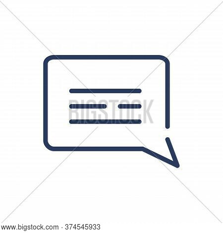 Chat Bubble Thin Line Icon. Speech Bubble, Message, Dialog Isolated Outline Sign. Communication, Sup