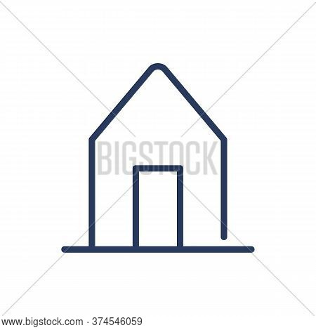 Hut Thin Line Icon. Ethnic House, Shelter, Building Isolated Outline Sign. Architecture, Real Estate