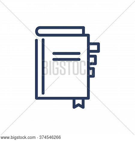 Daily Notebook Thin Line Icon. Organizer, Workbook, Notebook, Planner Isolated Outline Sign. Memo, S