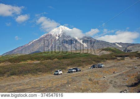 Kamchatka Peninsula, Russia - 14 September 2019: Koryaksky Or Koryakskaya Sopka Is An Active Volcano