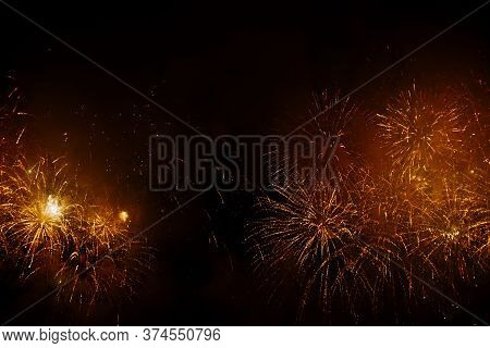 New Year Celebration Fireworks. Fourth Of July Fireworks. Fireworks Light Up The Sky With Dazzling D
