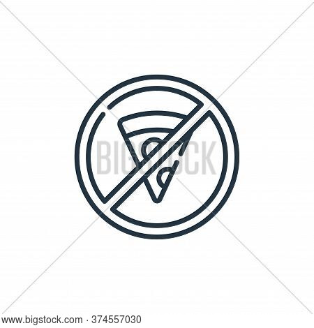 no eating icon isolated on white background from signals and prohibitions collection. no eating icon