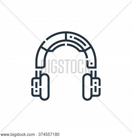 headphones icon isolated on white background from videoblogger collection. headphones icon trendy an