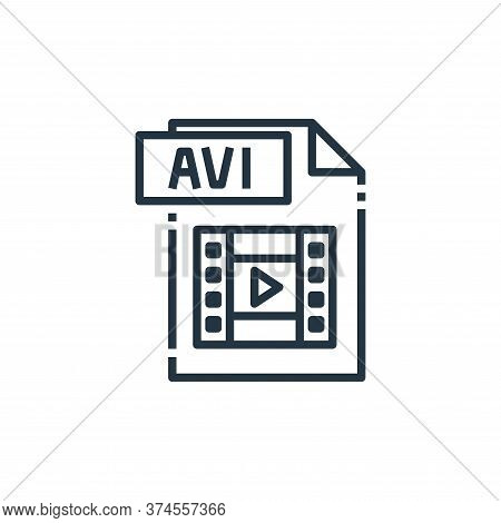 avi file icon isolated on white background from file type collection. avi file icon trendy and moder