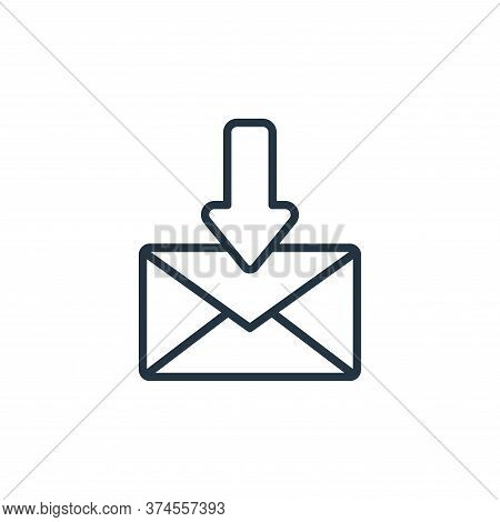 mail icon isolated on white background from communication collection. mail icon trendy and modern ma