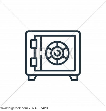 safe box icon isolated on white background from money and currency collection. safe box icon trendy