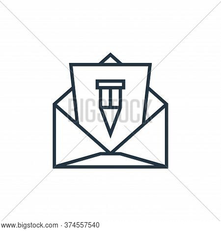 mail icon isolated on white background from school collection. mail icon trendy and modern mail symb
