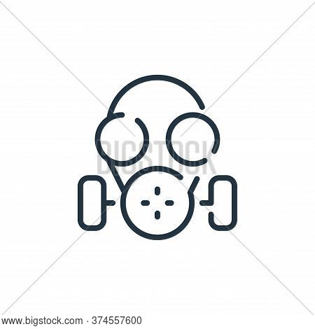 gas mask icon isolated on white background from coronavirus collection. gas mask icon trendy and mod