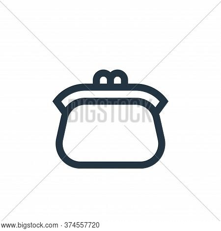 coin purse icon isolated on white background from insurance collection. coin purse icon trendy and m