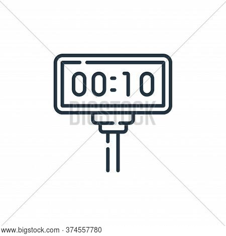 timer icon isolated on white background from auto racing collection. timer icon trendy and modern ti