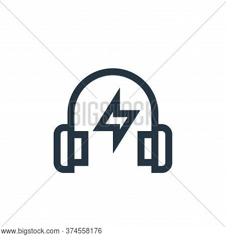 headphone icon isolated on white background from rock and roll collection. headphone icon trendy and
