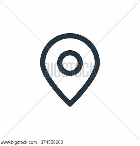 pin icon isolated on white background from marketing business collection. pin icon trendy and modern