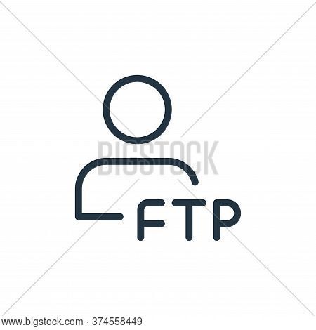 user icon isolated on white background from data transfer collection. user icon trendy and modern us