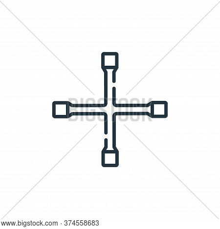 cross wrench icon isolated on white background from auto racing collection. cross wrench icon trendy