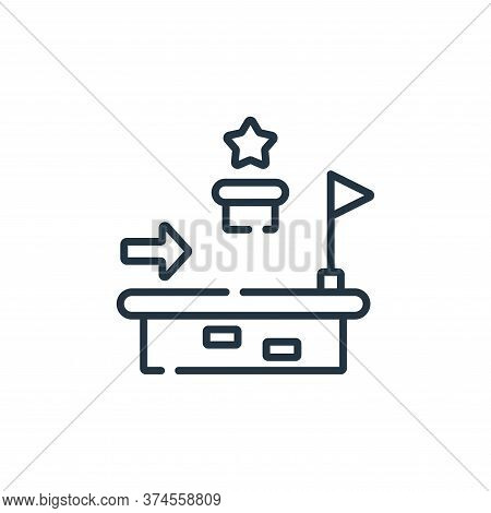 platform icon isolated on white background from videogame collection. platform icon trendy and moder