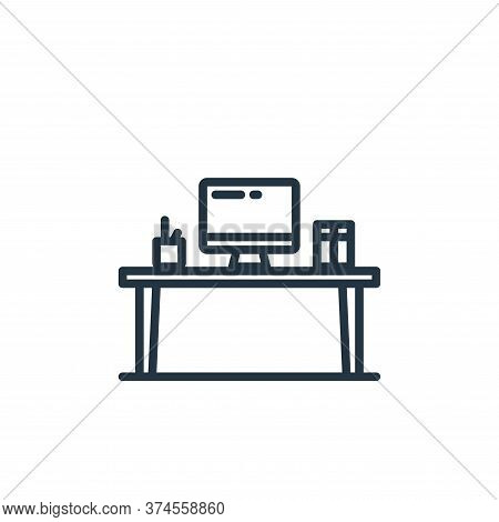 desk icon isolated on white background from elearning collection. desk icon trendy and modern desk s