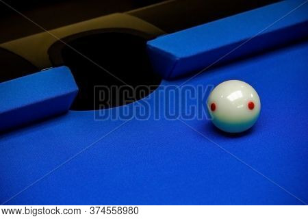 Background Image Of Billiard Balls In A Blue Pool Table, Billiards Game