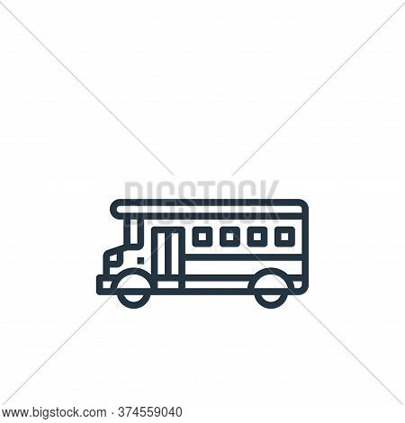school bus icon isolated on white background from motorway collection. school bus icon trendy and mo