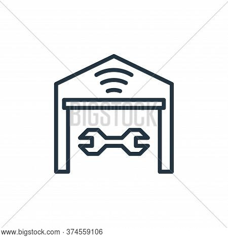 garage icon isolated on white background from internet of things collection. garage icon trendy and