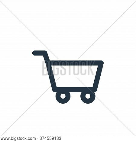 cart icon isolated on white background from multimedia collection. cart icon trendy and modern cart