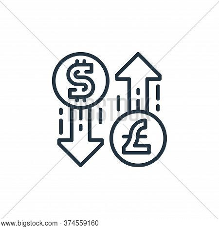 money exchange icon isolated on white background from money and currency collection. money exchange
