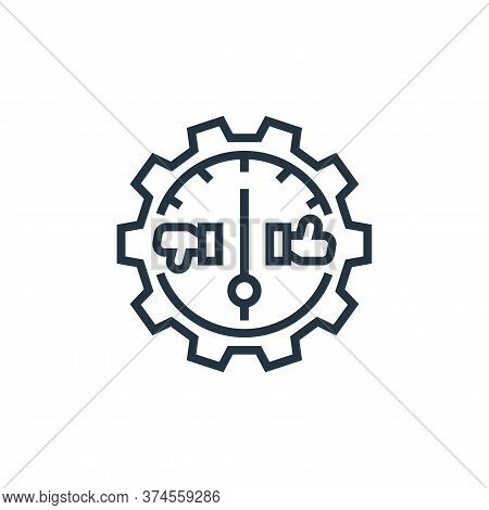 efficiency icon isolated on white background from business risks collection. efficiency icon trendy