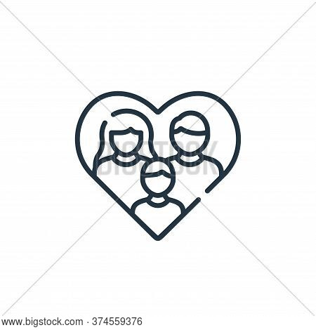 family icon isolated on white background from kindness collection. family icon trendy and modern fam