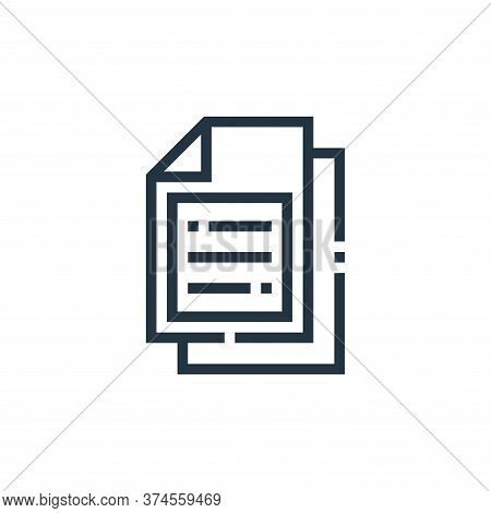 document icon isolated on white background from web essentials collection. document icon trendy and