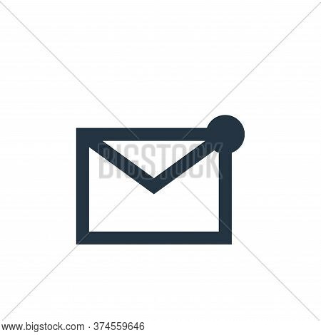 mail icon isolated on white background from user interface collection. mail icon trendy and modern m