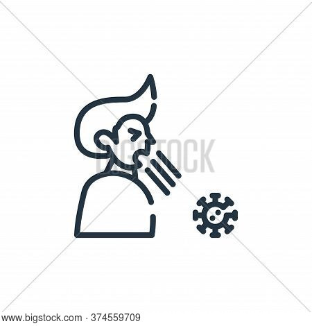 cough icon isolated on white background from symptoms virus collection. cough icon trendy and modern