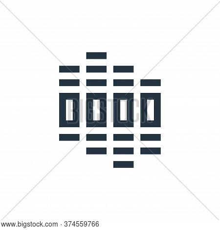 equalizer icon isolated on white background from rock and roll collection. equalizer icon trendy and