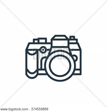 camera icon isolated on white background from camping collection. camera icon trendy and modern came