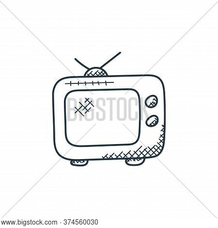 television icon isolated on white background from technology collection. television icon trendy and