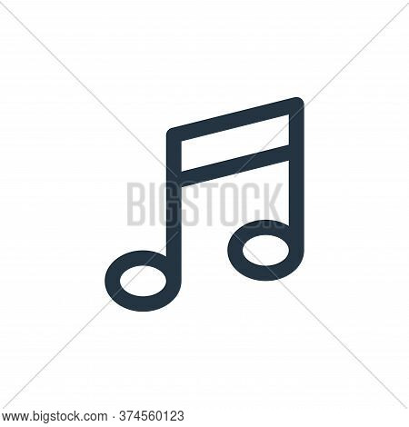 music note icon isolated on white background from user interface collection. music note icon trendy