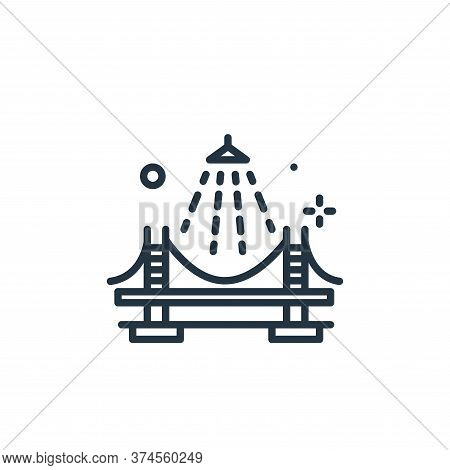 bridge icon isolated on white background from mass disinfection collection. bridge icon trendy and m