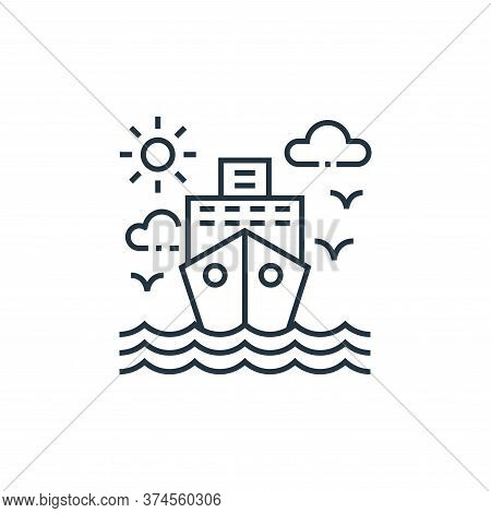cruise ship icon isolated on white background from tourism collection. cruise ship icon trendy and m