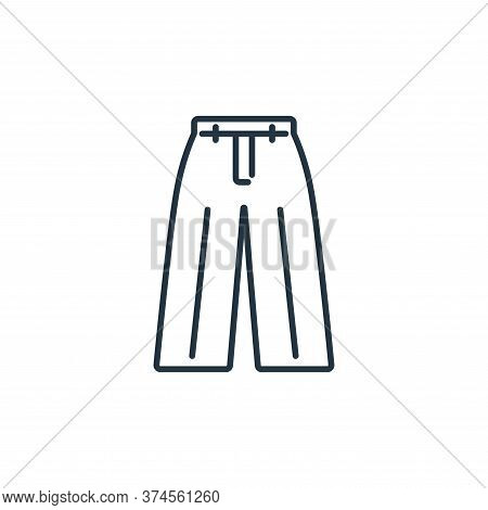 loose pants icon isolated on white background from clothes and outfit collection. loose pants icon t