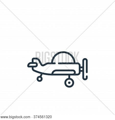 plane icon isolated on white background from children toys collection. plane icon trendy and modern