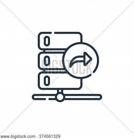 data transfer icon isolated on white background from database and servers collection. data transfer