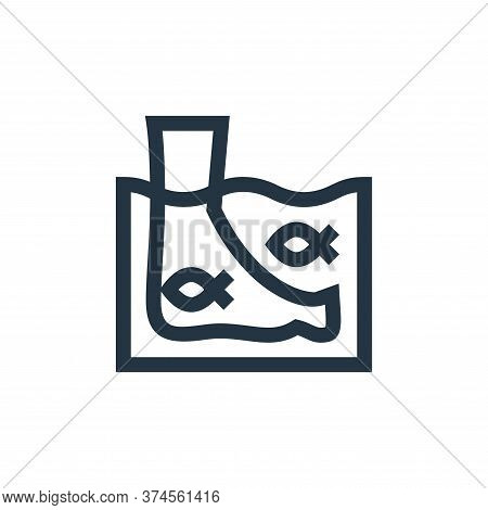 fish icon isolated on white background from alternative medicine collection. fish icon trendy and mo