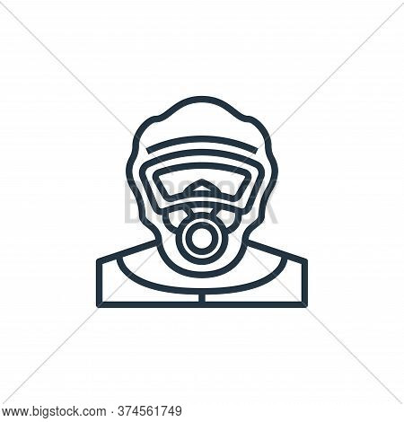 protective clothing icon isolated on white background from coronavirus collection. protective clothi