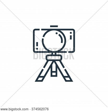 camera icon isolated on white background from videoblogger collection. camera icon trendy and modern