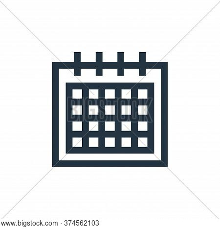 calendar icon isolated on white background from mental health collection. calendar icon trendy and m